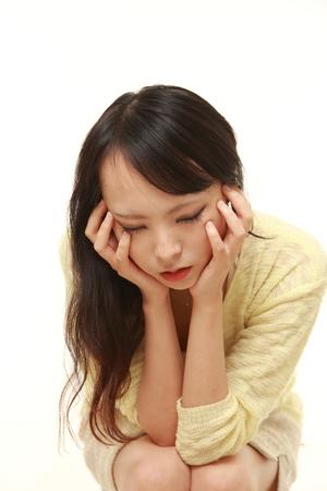 43851704 - depressed woman